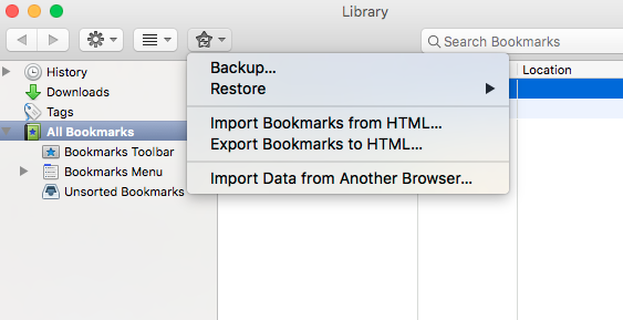 Exporting and Importing Browser Bookmarks – Emerson IT Help Desk
