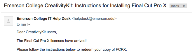 Installation instructions via Emerson email