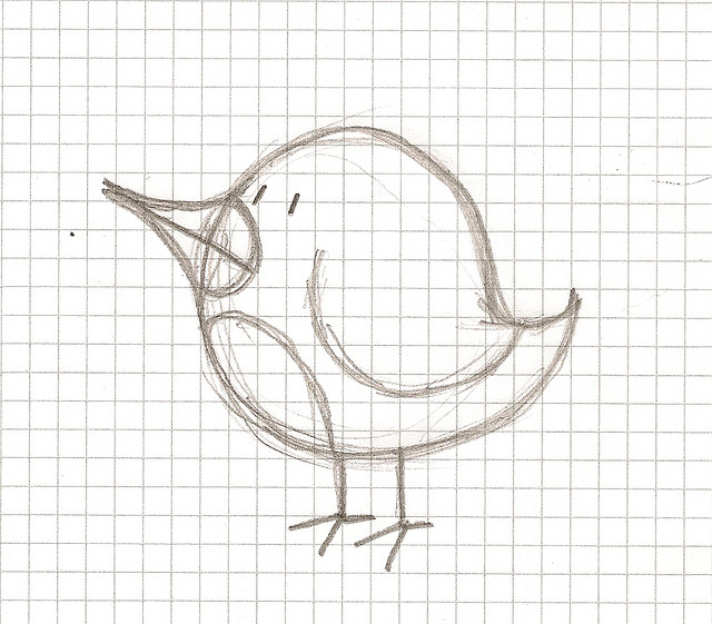 A sketch of a bird.