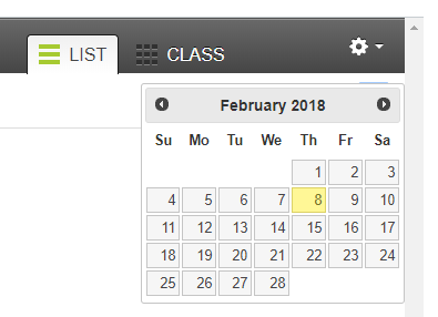 The calendar attendance tool within Canvas.
