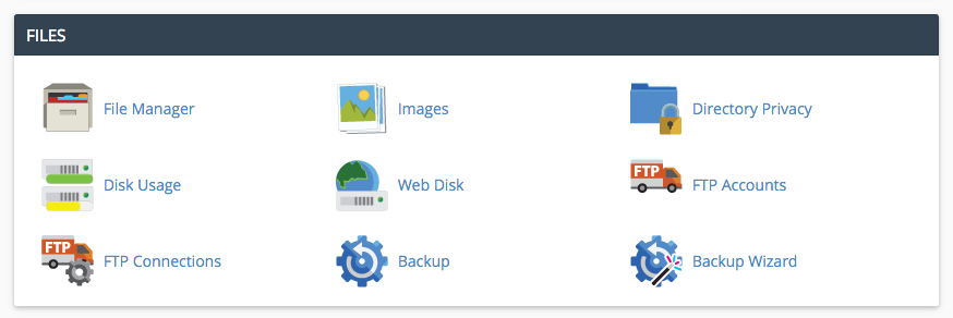 Within files you are able to manage and organize all the files