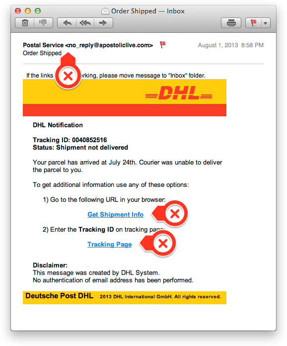 Phishing Email Example #2