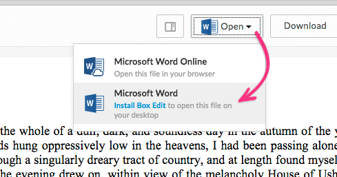 Open in Microsoft Word
